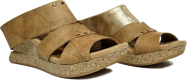 Modzori Aphina Women's Mid Wedge Reversible Sandal