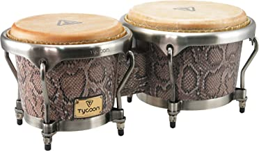 Tycoon Percussion MTBF-800BCF 7 and 8-1/2 Inches Master Series Bongos, Boa Finish