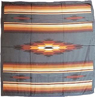 Wyoming Traders Western Cowboy Buckaroo Aztec Print Silk Bandana Scarf Wild Rag