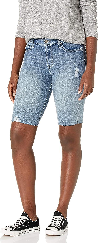 William Rast Women's High Rise Biker Bermuda Short