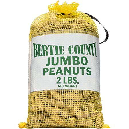 Bertie County Jumbo Raw Peanuts in Shell 2lb (Great for Boiling)