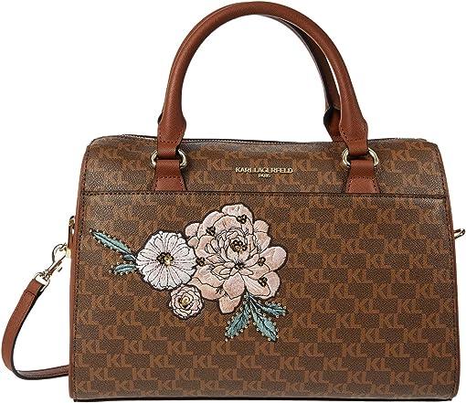 Brown/Khaki/Floral Embossed