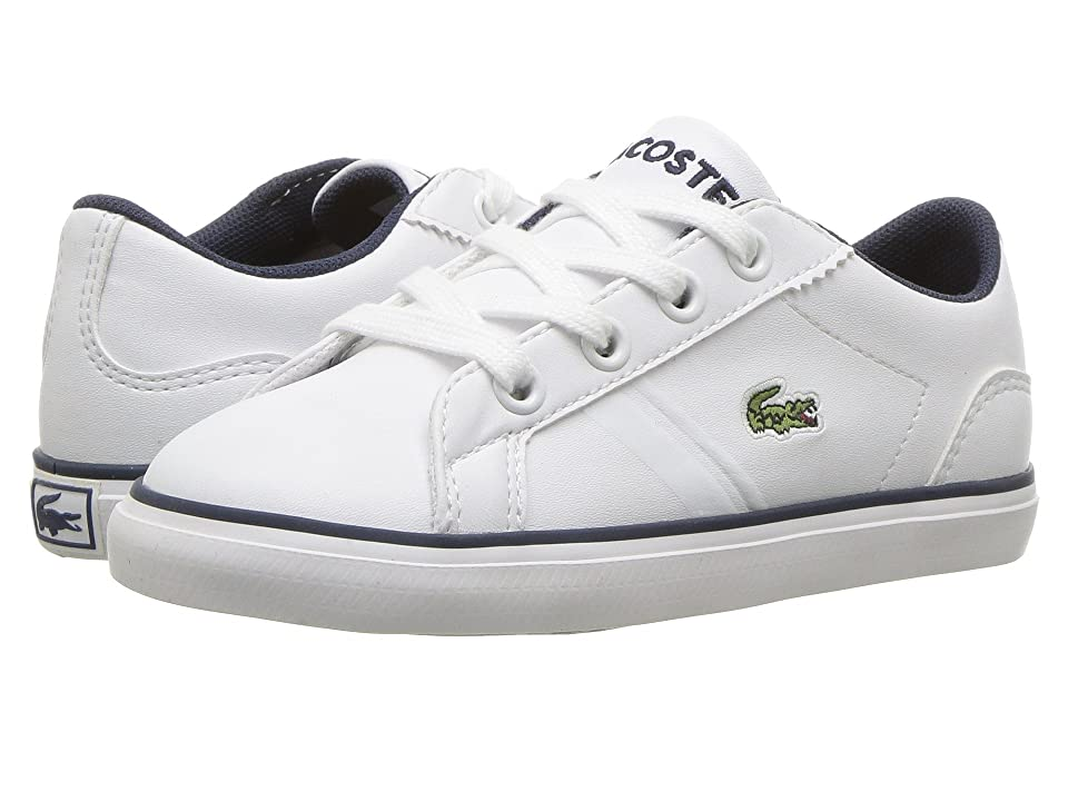 Lacoste Kids Lerond (Toddler/Little Kid) (White/Navy) Kid