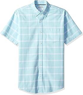 Amazon Essentials Regular-Fit Short-Sleeve Solid Pocket Oxford Shirt Hombre
