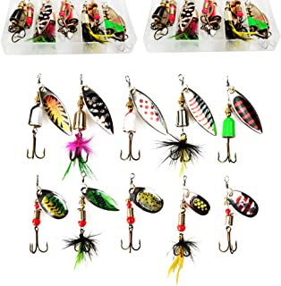 5pcs//set Spinner Fishing Lures Bass ZOC Crank Bait Hook Fishing D1D8 Lure T Q7O7