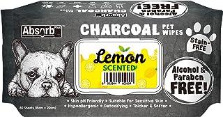 Absorb Plus Charcoal Pet Wipes 80 Sheets, Lemon