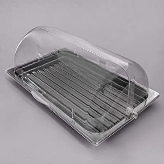Sample and Display Tray Kit with Black Polycarbonate Tray and Roll Top Cover - 12