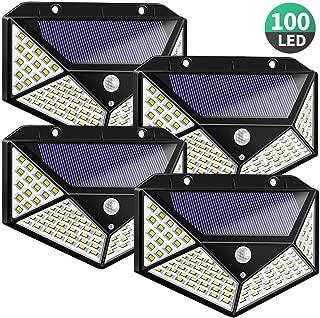 DIANZHI Luz Solar Exterior, 100 LED Foco Solar con Sensor de