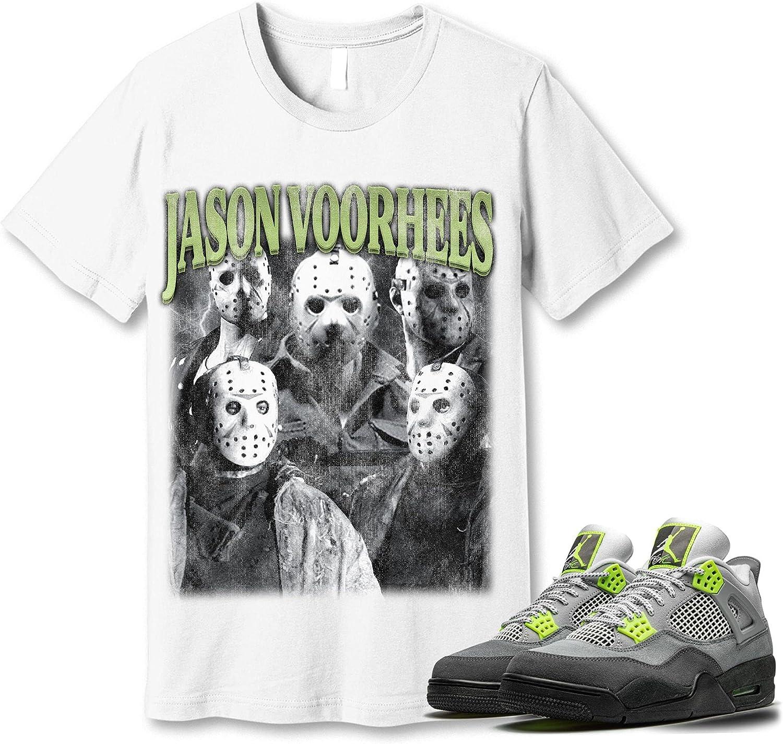 #Jason #Voorhees T-Shirt to Match Jordan service Snkrs Sneaker 4 95 Neon Sacramento Mall