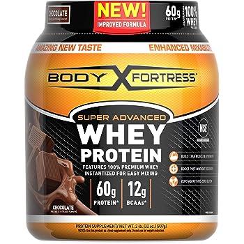 Body Fortress Super Advanced Whey Protein Powder, Gluten Free, Chocolate, 2 Pound