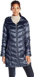 metallic blue puffer jacket