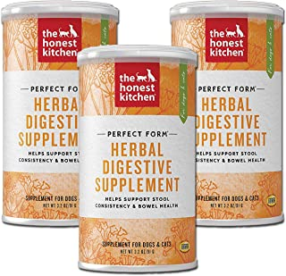 Honest Kitchen The Herbal Digestive Supplement Pet Food for Cats and Dogs, 3.2 oz (3-Pack)