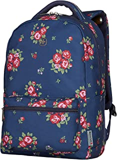 "Wenger 16"" Laptop Backpack with Tablet Pocket, Navy Floral 606469"
