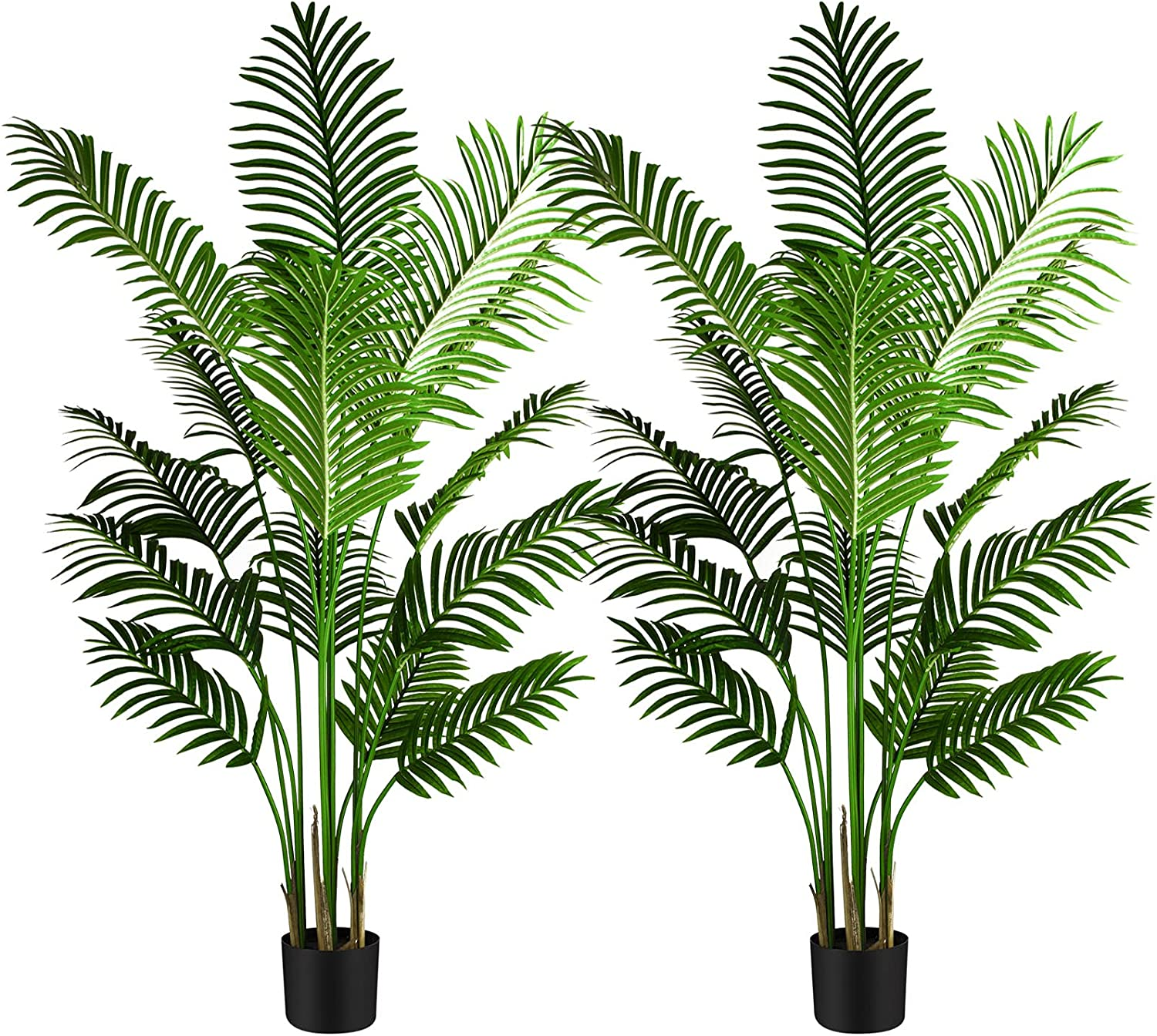 2 Pack 5.2ft Quantity limited Artificial Palm Tree Decor Outd for and Indoor Cheap mail order specialty store Home