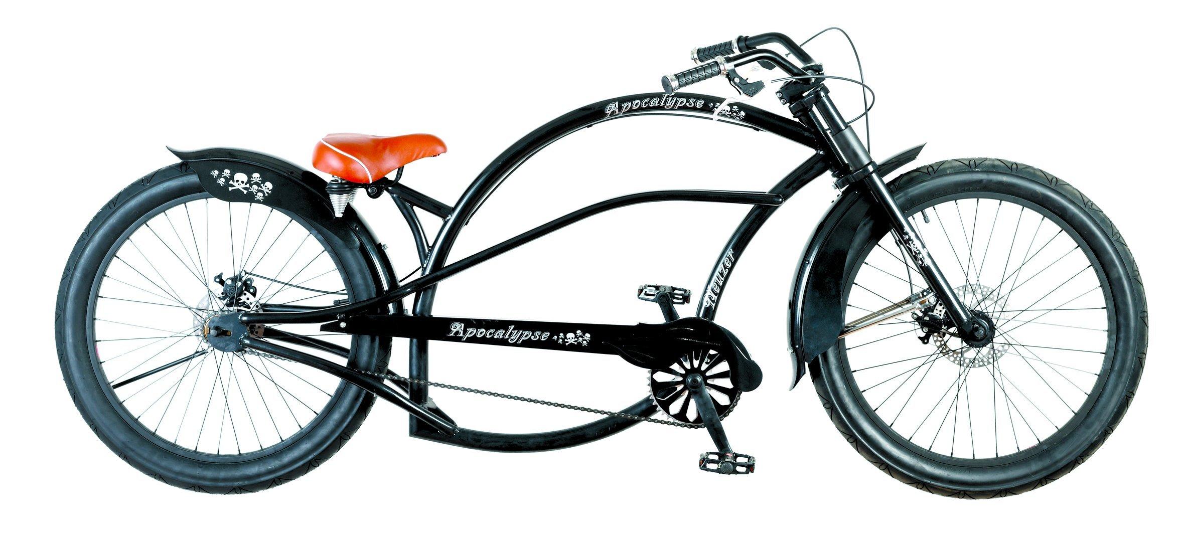 Bicicleta Custom Chopper, rueda 24x3.0, frenos de disco, asiento ...