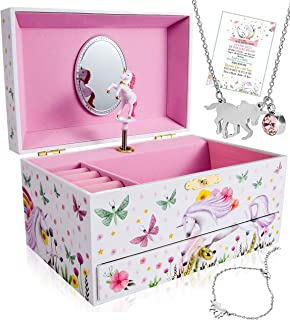 Unicorn Jewelry Box for Girls - 3 Unicorn Gifts for Girls - Girls Jewelry Box - Girls Jewelry Set - Unicorn Music Box for ...