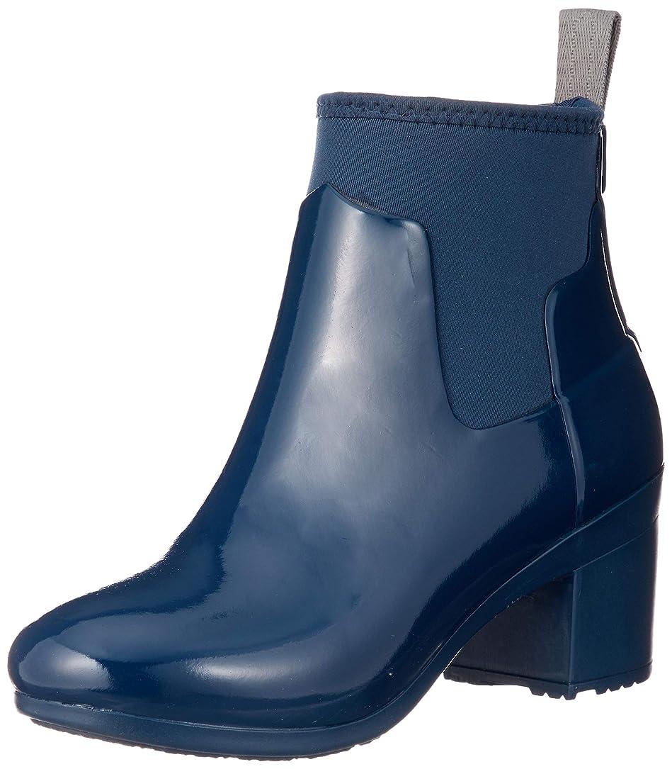 全部くるみミシン目[ハンター] 長靴 REFINED MID HEEL GLOSS レディース