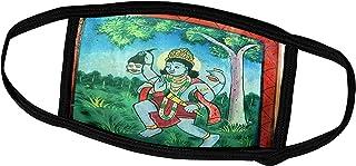 3dRose Krishna, Shree Laxmi Narihan Ji Temple, Jaipur, Rajasthan - Face Masks (fm_188181_1)