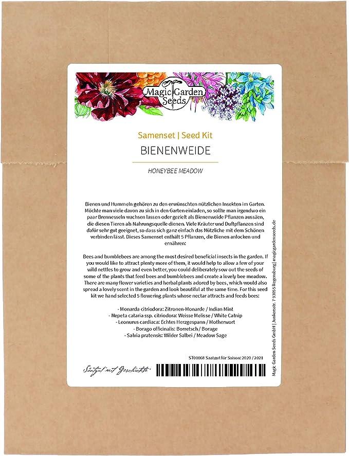 63 opinioni per Piante mellifere- set di semi con 5 piante da fiore che attirano insetti utili