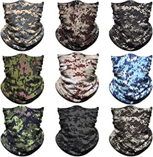 NTBOKW Face Mask for Sun UV Dust Wind Protection Neck Gaiter Seamless Bandana Face Mask for Rave Fishing Motorcycle Riding Cycling Hunting Summer Tube Mask for Men Women Multifunctional Headwear Packs