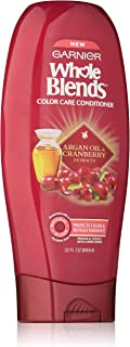 Garnier Whole Blends Conditioner with Argan Oil & Cranberry Extracts, Color Care, 22 Fl Oz