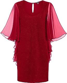Women's Plus Size Touck of Sparkle Flutter Sleeve Dress 719466