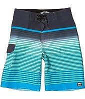 All Day Stripe Pro Swim Shorts (Big Kids)
