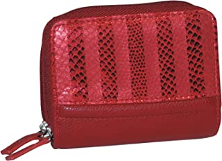 (Red Stripe) - Buxton Womens RFID Identity Safe Card Wizard Wallet