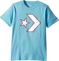 Outlined Star Chevron Tee (Big Kids)