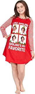 The Movie Will Farrell Santa Holiday Christmas Fleece Raglan Nightgown Sleepshirt Pajama