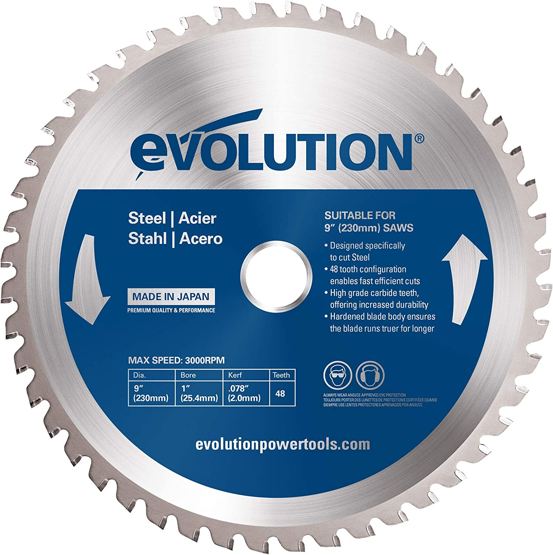 Evolution Nippon Charlotte Mall regular agency Power Tools 230BLADEST Steel Saw Cutting 9-Inch Blade