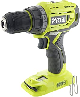 Ryobi P252 18V Lithium Ion Battery Powered Brushless 1,800 RPM 1/2 Inch Drill Driver w/..