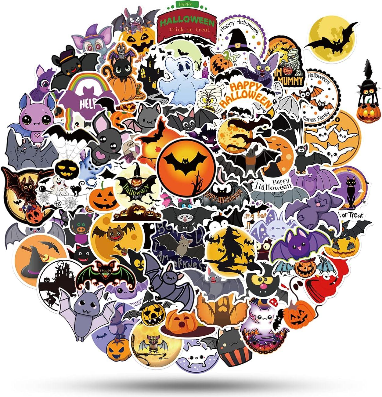 ViKiVi Ranking TOP10 Halloween Stickers for Kids Ranking TOP8 Teens 100 Pcs Cute Ha Adults