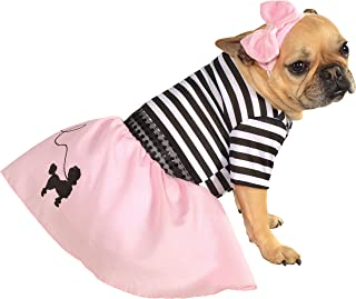 Rubies Costume Co Halloween Classics Collection Pet Costume, Small, 50s Girl Dress