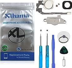 Xlhama Botón Home para iPhone 5S/SE Cable Flexible, Soporte de Metal preinstalado Kit Desmontaje transformación de reemplazo con Completa + Herramientas Incluidas-Blanco