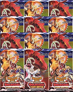 Dinosaur King Twelve Colossal Team Battle Booster Packs Containing 5 Cards Per Pack (60 Total Cards)