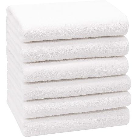 ZOLLNER Juego de 6 Toallas de Mano, Blanco, 50x100 cm, algodón