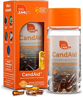 Zahler CandAid, Candida Cleanse, Candida Antifungal Supplement, Powerful Yeast Infection Treatment, Immune Support with Garlic and Black Seed Oil, Certified Kosher, 60 Timed Release Capsules
