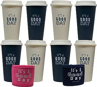 Aladdin Blushers 20oz Reusable Cups (Cream & Marina) - 8 Pack
