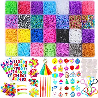 11900+ Rainbow Rubber Bands Refill Kit, 11,000 Loom...