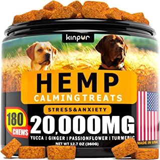 Hemp Dog Chews and Calming Treats for Dogs with Anxiety and Stress - Natural Calming Aid - Separation - Fireworks - Storms...
