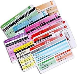 YARKOR 27 Nursing Badge Reference Cards, Waterproof Nursing CheatSheet (3.35