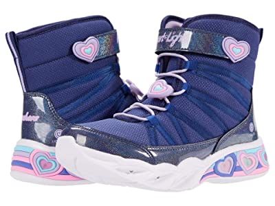 SKECHERS KIDS Sweetheart Lights 302661L (Little Kid/Big Kid) (Navy/Lavender) Girls Shoes