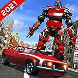 フライングロボットカートランスフォームスーパーヒーローフライングロボット-究極の未来都市レスキューミッションゲーム2021-ロボットトランスフォーミングマッスルカードライビングシミュレーター-アクションロボットカーゲーム