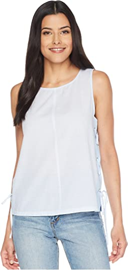 Sleeveless Slub Stripe Side Lace-Up Tank Top