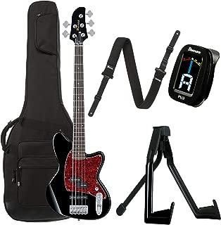 Ibanez TMB105BK Talman Bass 5-String Black Bundle w/Ibanez Gig Bag, Stand, Tuner and Strap
