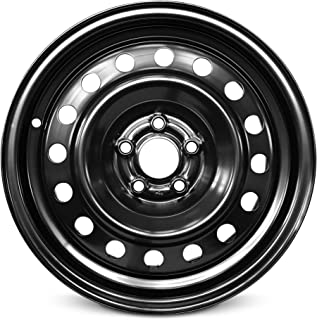 Road Ready Car Wheel For 2003-2010 Chrysler PT Cruiser 15 Inch 5 Lug Black Steel Rim Fits R15 Tire - Exact OEM Replacement - Full-Size Spare