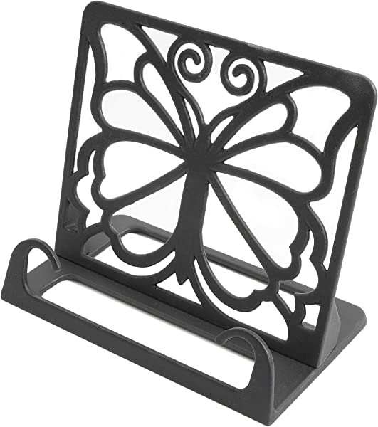 The Pioneer Woman Timeless Beauty Butterfly Cast Iron Cookbook Holder Black