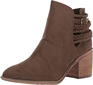 Womens Ashby Faux Suede Braided Booties