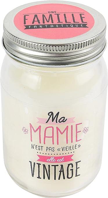Anche verre JARRE à Couvercle Rose Mariage Bougie Boîte Cadeau double mèche Vintage Chic